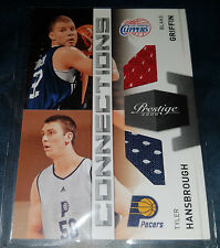 Blake Griffin/T.Hansbrough 2009-10 Prestige CONNECTIONS Rookie GU Card (#d /250)