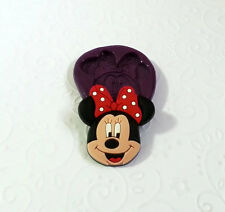 Minnie Mouse Silicone Mold (27mm) - Cake Topper Decor Polymer Clay Jewelry PMC