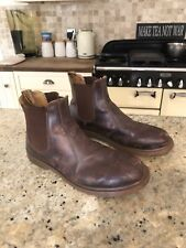 Mens Brown Leather Air Ware Dr Martin Boots Chelsea Style Size 10