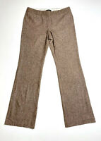 Dana Buchman 8 Brown 100% Wool Dress Pants Tweed Lined Women's