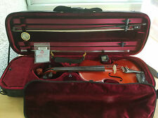 Cremona SV1220 Maestro Violin, Full-Size w/ Case, Bow, full set of new strings.