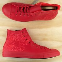 Converse Chuck Taylor All Star High Top Red Tech Tuff Laser Engrave 155181C Size