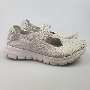 Women's SKECHERS 'Slip ON Weave' Sz 7 US Shoes Grey GCon   3+ Extra 10% Off