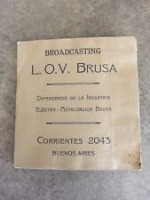 Vintage early 1900s Photograph Booklet Buenos Aires Argentina Broadcast Radio