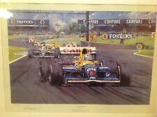 Nicholas Watts Imprimer, Nigel Mansell Print, formule un, Williams Renault, F1