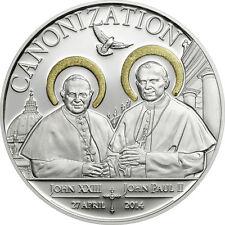 1000 Schillings 2014 Tanzania - Canonization of the Popes Ag vergoldet