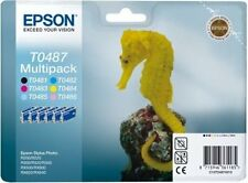 EPSON CARTUCCE di inchiostro ORIGINAL t0487 MULTIPACK STYLUS PHOTO r200 r220 r300 BN