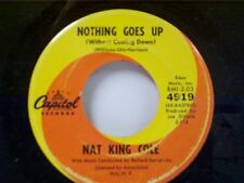 """NAT KING COLE """"NOTHING GOES UP / ALL OVER THE WORLD"""" 45 NEAR MINT"""