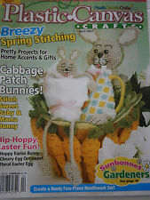 April 2002 Plastic Canvas Crafts Pattern Book Magazine Cabbage Patch Bunnies