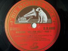 "78 rpm 12"" ROSSINI Wilhelm Tell Overture , V. de Sabata"