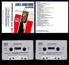 LOUIS ARMSTRONG & HIS ORCHESTRA - JUST - UK CASSETTE DITTO 1990 - NEAR MINT