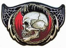 SKULL HEAD MOHAWK BIKE CHAIN PATCH P6743 NEW jacket patches BIKER EMBROIDERIED
