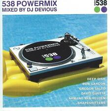 2 CD album - 538 POWERMIX by DJ DEVIOUS -2005 DEEP DISH DAVID GUETTA  BON GARCON