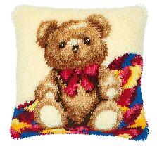 Vervaco - Latch Hook Cushion Kit - Teddy Bear - PN-0014124