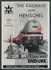 125 Jahre Henschel & Sohn Kassel Drache Wegmann-Zug 61 001 Stromlinie Lok 1935