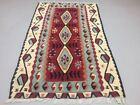 Vintage Turkish Kilim Kelim Rug shabby wool, country home, boho 155x93cm medium