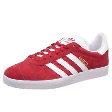 newest 705d4 544b1 Mens adidas Gazelle Scarlet Red Footwear White Gold Metallic S76228 US 9.5