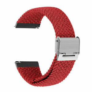 For Samsung Galaxy Watch 4 Classic 42 46mm Braided Nylon Strap Loop Wrist band