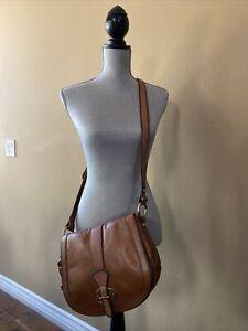 New Vintage ReIssue Fossil Flap Saddle Crossbody Bag, key & Lock charm