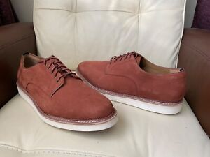 Cole Haan Zerogrand brown rust leather suede shoes,UK size 12
