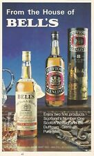BELL'S and DUFFTOWN GLENLIVET Scotch Whisky 1977 Vintage Print Ad # 36 8