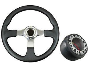 F2 CHROME Sports Steering Wheel + Boss Kit for VW 3 040