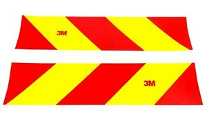 Reflective Tape 3M Red And Yellow Diamond Grade Chevron Safety HGV Truck Lorry
