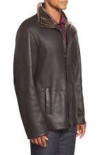 NWT $2095 Blue Duck Men's Shearling Real Fur Coat Merino Jacket | SZ 48R |