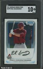 2011 Bowman Chrome Prospect Paul Goldschmidt Cardinals RC Rookie SGC 10