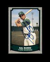Sal Bando Hand Signed 1988 Pacific Baseball Legends Oakland A's Autograph
