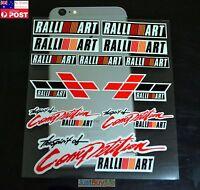 Ralliart Decoration Vinyl Car Body Door Handle Protector Sticker Decal for Mit