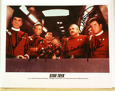 The Original Star Trek 7 Cast  Signed Autograph  Photo With COA  Nimoy Shatner