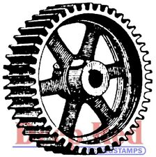 Deep Red Stamps Heavy Gear Rubber Cling Stamp