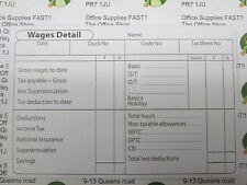 PACK OF 5 PRE-PRINTED WAGES DETAIL PAD 100no SHEETS PER BOOK