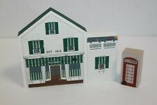 Vintage Cat's Meow Village Building & Phone Booth 1993
