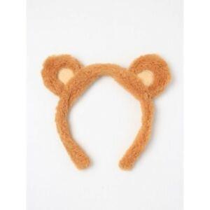Teddy Bear furry Ears & lighter patch inner ear Alice band Headband UK SELLER