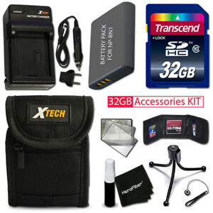 32GB Memory + Battery / Charger + Case + MORE f/ SONY Cyber-Shot DSC-W610