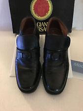 Authentic Vintage Gianni Versace Men's Black Slip-On Shoes - US Size 6