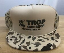 New listing Vintage Trop Gun Shop Elizabethtown Pa Snapback Camo Trucker Mesh Hat Nwot