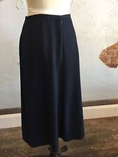 Laura Ashley Wool Skirt Navy Midi Winter A Line Winter Lined Classic Tailored 10