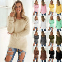 Women Long Sleeve Fleece Loose Winter Warm Sweater Casual Jumper Pullover Blouse