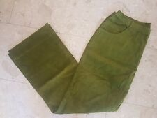 NEW OILILY LADIES WOMANS OLIVE GREEN COTTON CORDUROY PANTS 44 14