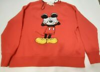 H&M Disney mickey mouse sweatshirt red womens sz M collectable