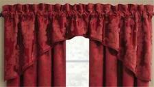 Curtain Adrianna Arc Valance Red Floral 72 X 24 Croscill closeout