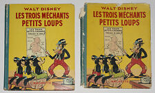 RARE - LES TROIS MECHANTS PETITS LOUPS WALT DISNEY, EO HACHETTE 1937