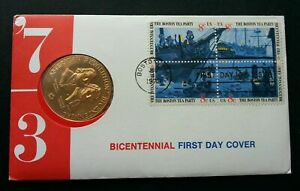 [SJ] USA Bicentenary 1973 United States FDC (coin cover)