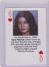 RARE 2003 STARZ BEHIND BARZ CARMEN ELECTRA PLAYING CARD  MUG SHOT ~ TARA PATRICK