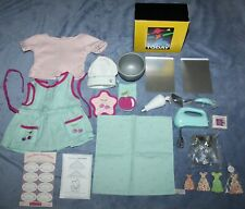 American Girl Doll Baking Accessories Weekend Outfit Coconut Mixer Cookies Lot