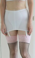 Retro Style size 14-16 stretchy suspender girdle with control 4 suspenders White