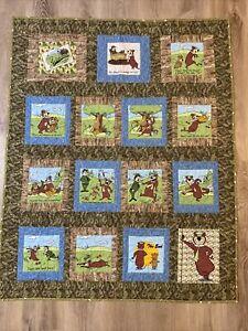 "Handmade Child Quilt Jellystone Yogi Bear 51"" x 42"""